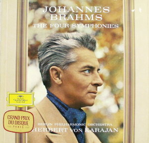 Johannes Brahms, The Four Symphonies by Herbert von Karajan and Berlin Philharmonic Orchestra.  33 1/3 Record