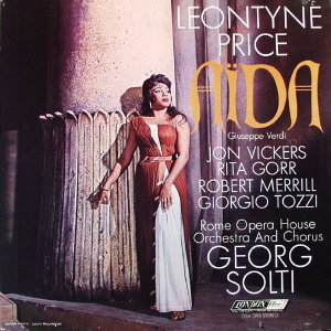 Aida by Leontyne Price, Rome Opera House Orchestra & Chorus under direction of Georg Solti.  33 1/3 Record