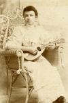 CC, Instrument: Young Lady w/Mandolin, 1890s