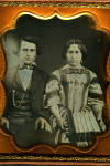 Daguerreotype: Couple w/ Flutina Accordion, 1840s