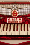 Castiglione  Red/3445 Keyboard Accordion ,  c. 1960's