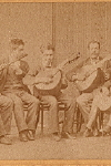 Carte de Visite of  Latin American ensemble with instruments,  c. 1870