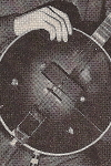 Magazine Advertisement of  Sleepy Hall with an Electar Banjo and amp,  c. 1936
