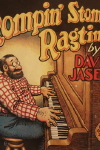 Album Slick of  R. Crumb drawn cover for Rompin' Stompin' Ragtime by Dave Jasen