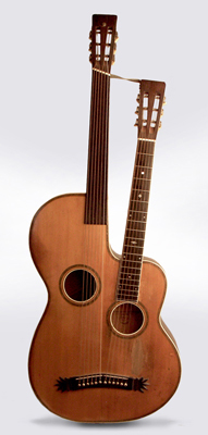 Maurer Harp Guitar, made by Larson Brothers ,  c. 1915