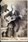Cabinet Card of Man with Guitar, c. 1880's